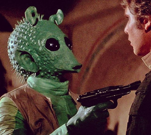 'Han shoots the alien.' From Greedo himself comes the final answer to the question who shot first. Although he only just confirmed what fans already knew to be truth, in an interview with New York Daily News, he adds further insight. 'That's all {the script} said and that's what happened. It was very painful.'